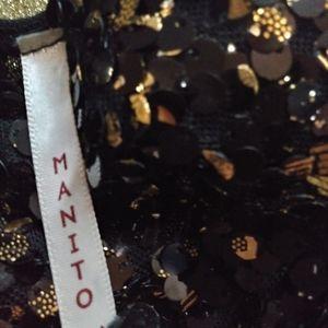 Junior's formal silk dress Gold/black sequence